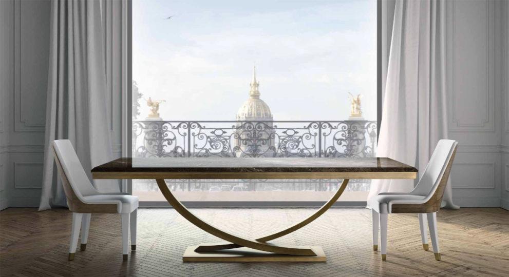 Art Deco Tisch mit Stühlen