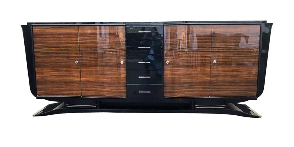 Sideboard geschlossen in braun schwarz Vorderansicht