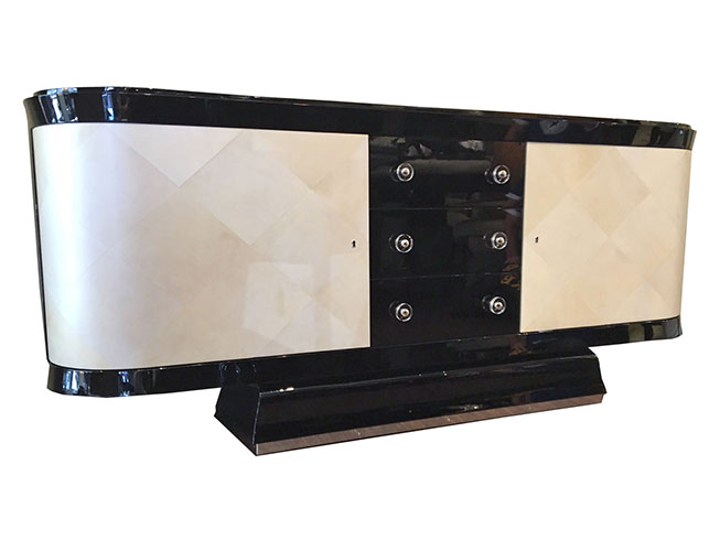Sideboard Piano schwarlack Seitenansicht