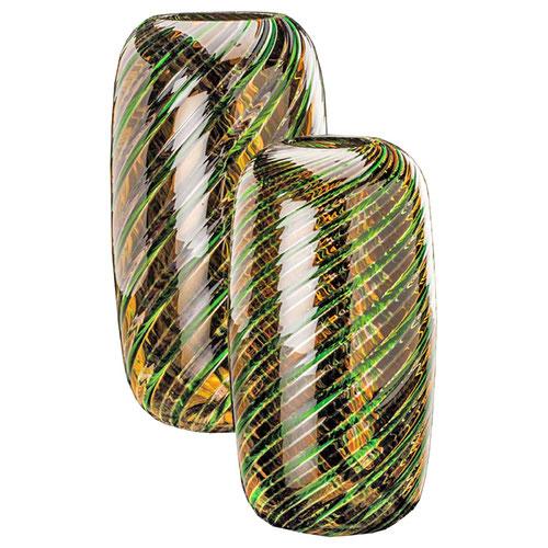 grün braune Vase Venini 500