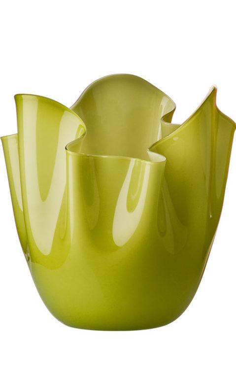 Elegante Vase Venini in grün