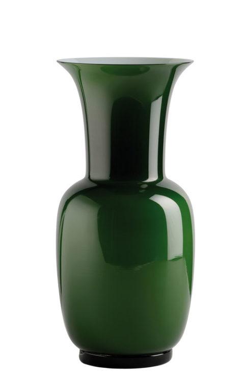 Vase Venini in grün, Vorderansicht