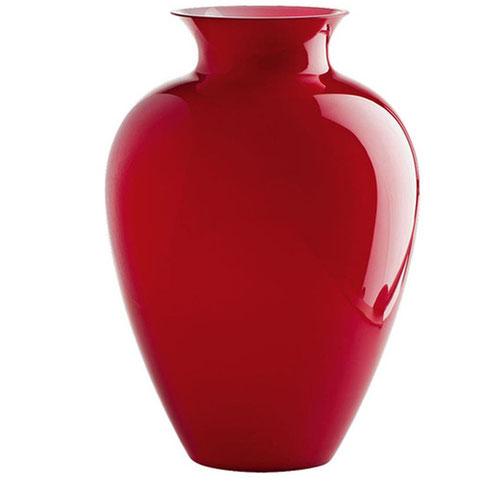 Vase Venini in rot, rund