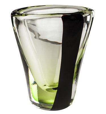 Vase Venini in schwarz grün