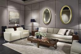 Sofalandschaft Inspiration in creme-weiß Art Deco
