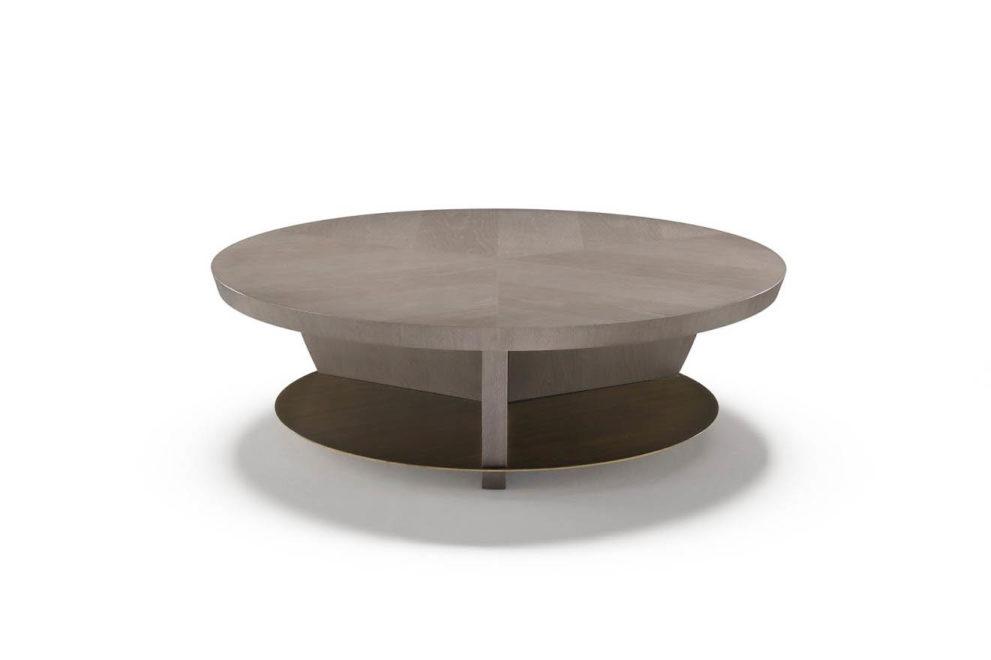 Couchtisch hs hoche runde Form in hellem braun