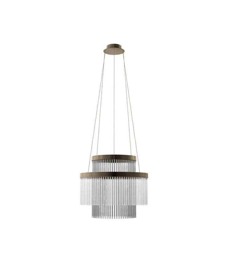 Deckenlüster PARIS-60-LED. D.60 x H.53 cm