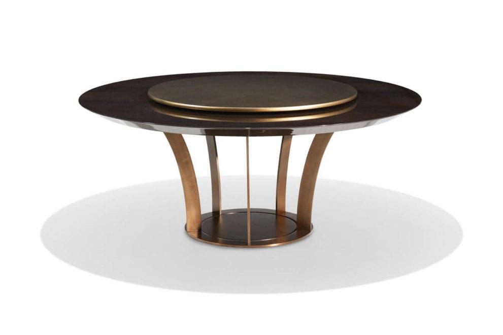Konferenztisch/ Esstisch PARIS rund mit Drehplatte