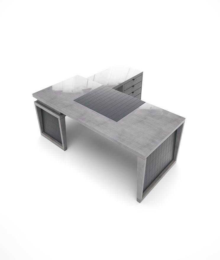 Schreibtischkombination ANDREWS-ICONIC. B.240 x T.190 x H.77 cm