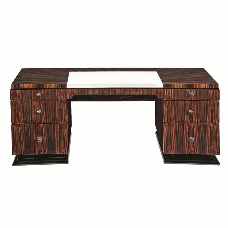 Schreibtisch D030. B.220 x T.100 x H.78 cm