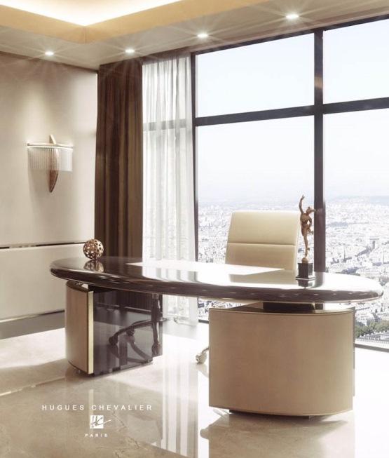 Arbeitszimmer Inspiration Schreibtisch mit Stuhl in beige