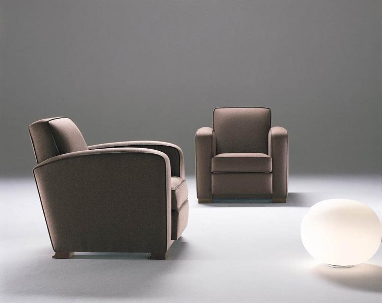 Sessel mit Kontrastkedern ORSON-ICONIC. B.82 x T.90 x H.80 cm