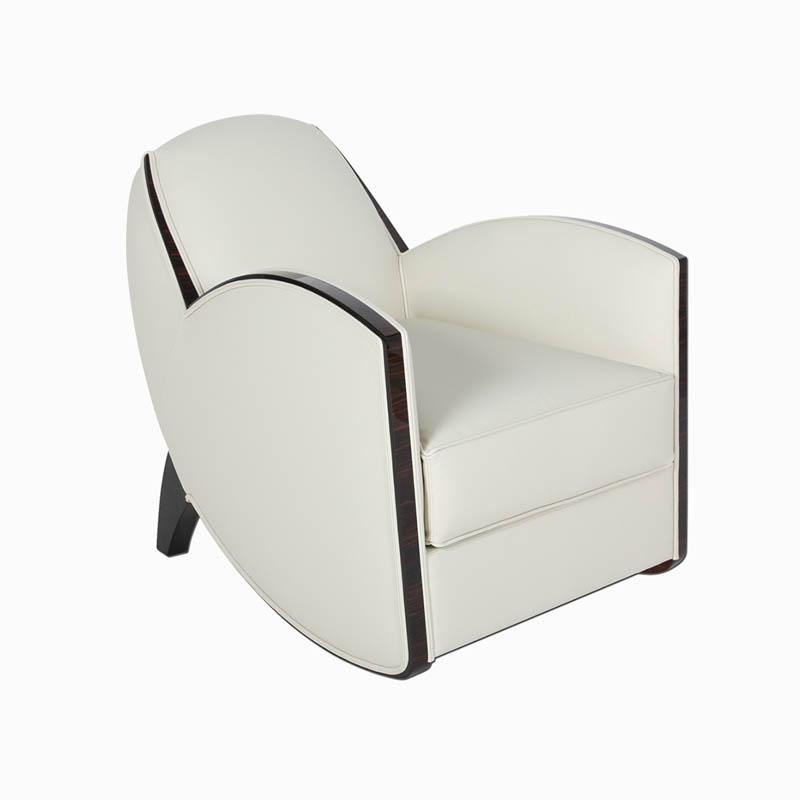 Skulpturaler Sessel nach J.LELEU S040.. B.72 x T.86 x H.80 cm