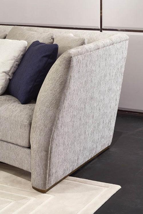 Gerundetes Sofa HOCHE-VENDOME Detail.