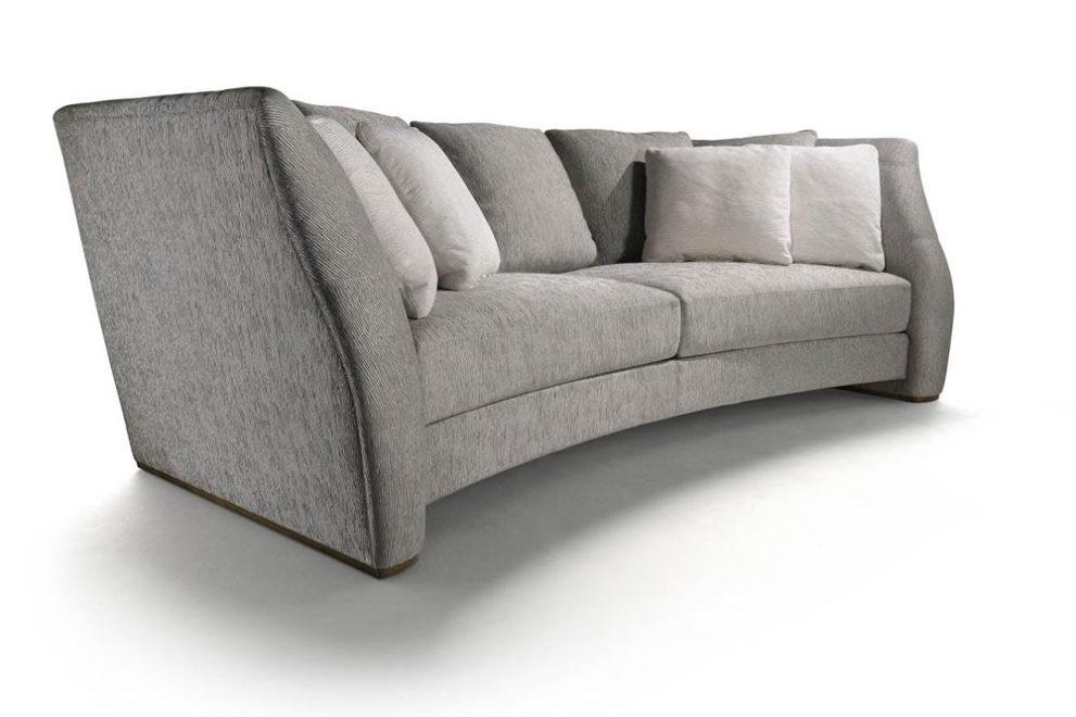 Gerundetes Sofa HOCHE-VENDOME. B.250/ 280/ 310 x T.133 x H.83 cm