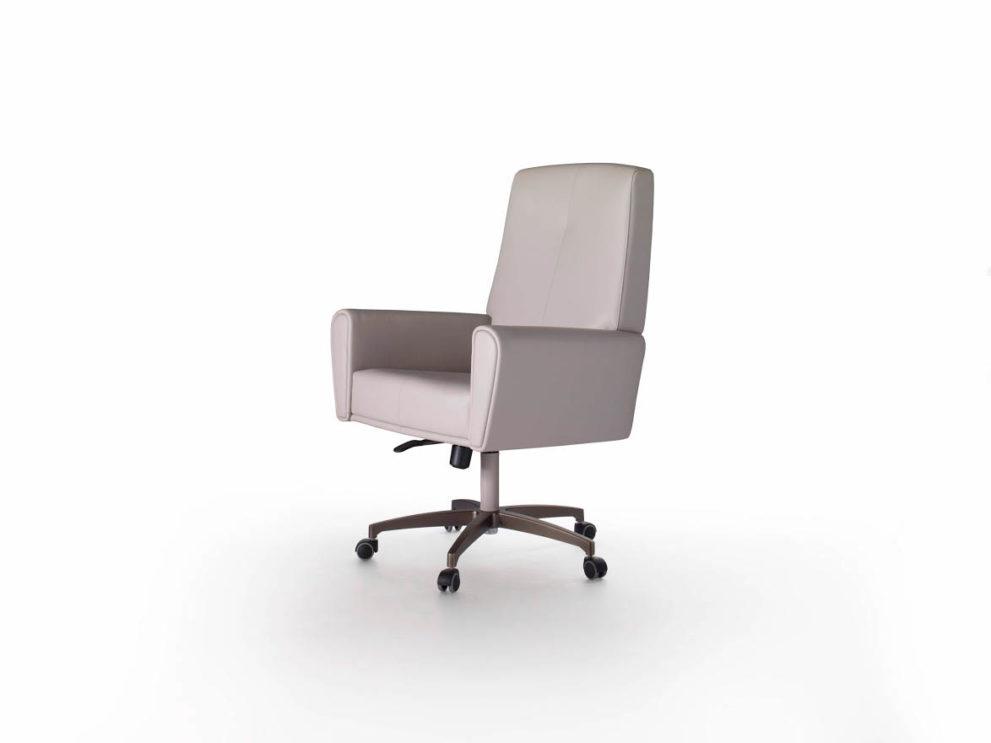 Schreibtisch-Stuhl PRÉSIDENT-HAUSSMANN. B.75 x T.72 x H.113/126 cm.