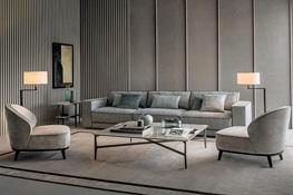 Wohnzimmer Inspiration in grau Art Deco