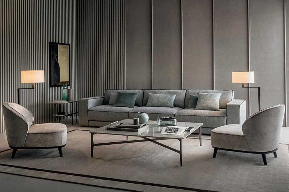 Sofa SUITE mit Sesseln DHORA
