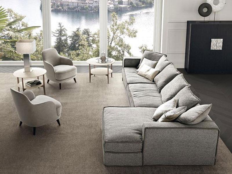 Sofagruppe PILLOPIPE, aus einzelnen Modulen kombinierbar mit Sesseln LIZ