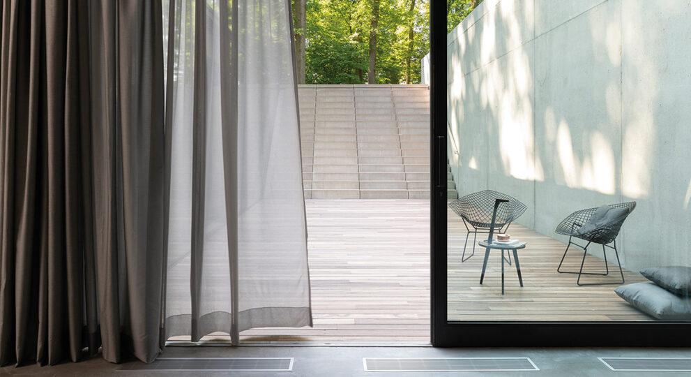 Outdoor-Bereich Inspiration mit Art Deco Möbel