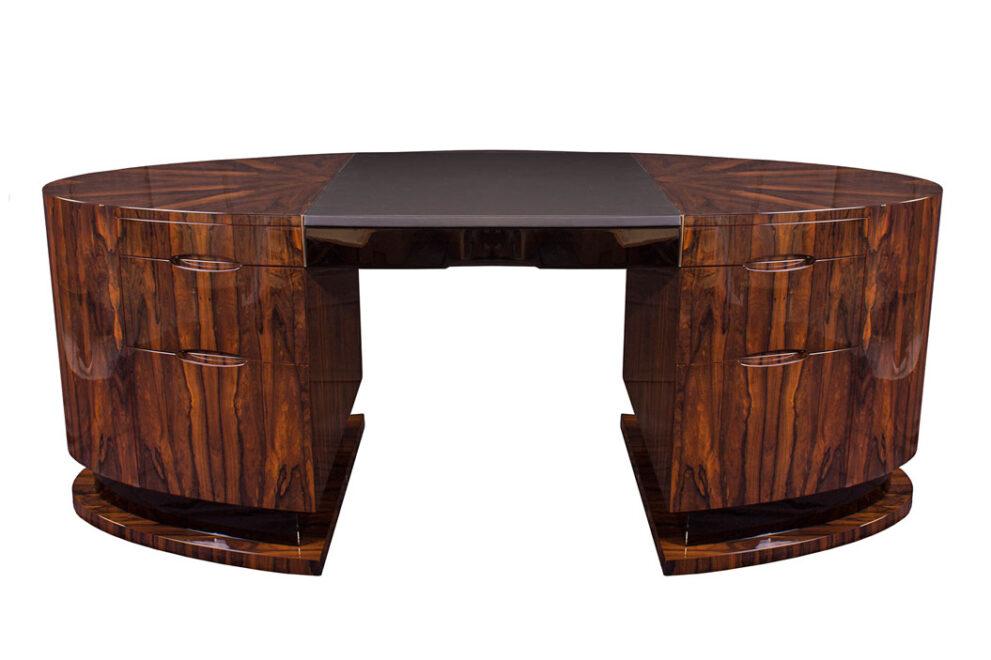 Schreibtisch ZD001 oval, brauntöne 1055x703