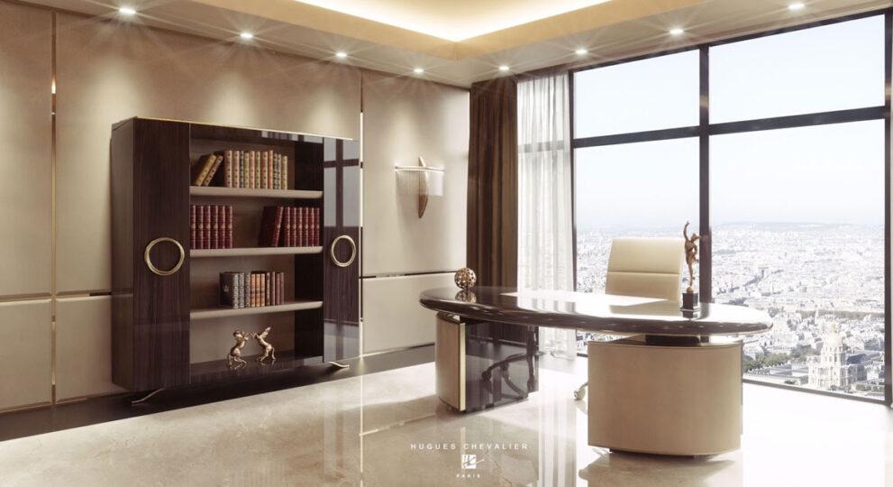 Arbeitszimmer mit Art Deco Möbel