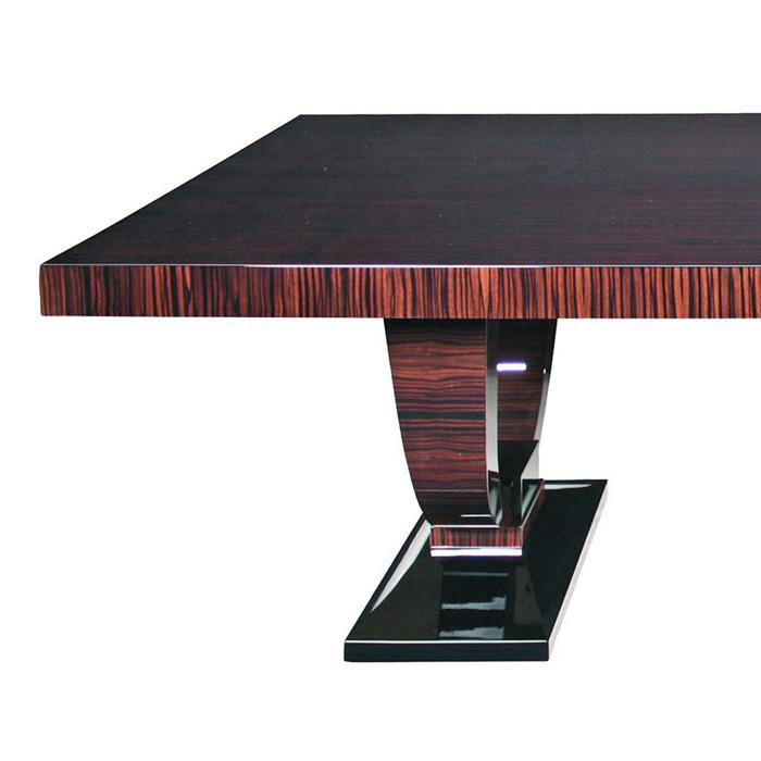 Tisch T021 braun schwarz Detail