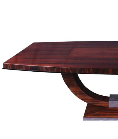 Tisch T004 braun silber Detail links