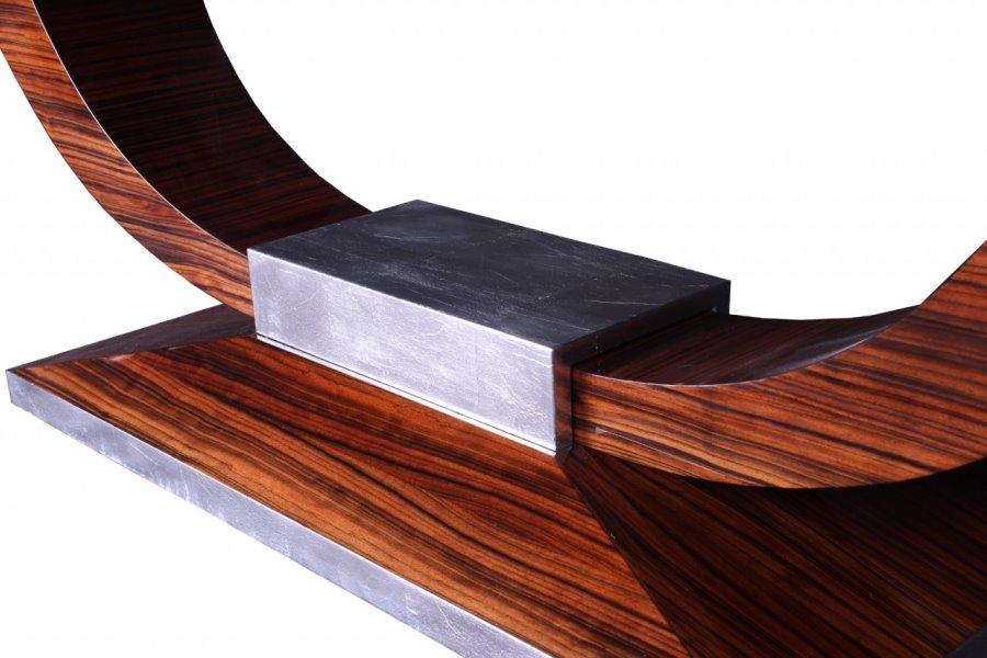Tisch T004 silber braun Detail