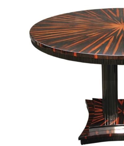 Tisch T008 oval in braun schwarz links