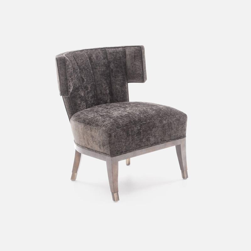Sessel FACTORY in verschiedenen braun tönen Seitenansicht