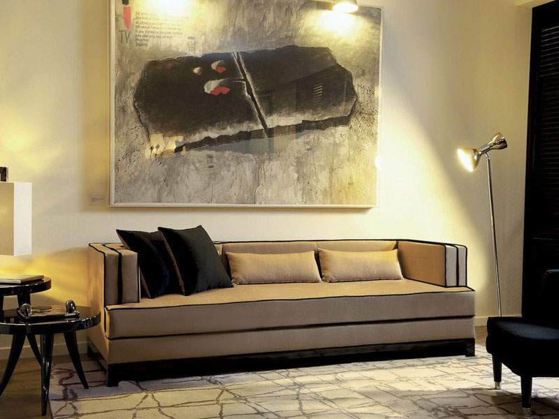 Sofa CLIVE. B.160 - 300 x T.90 x H.73x SH.43 cm