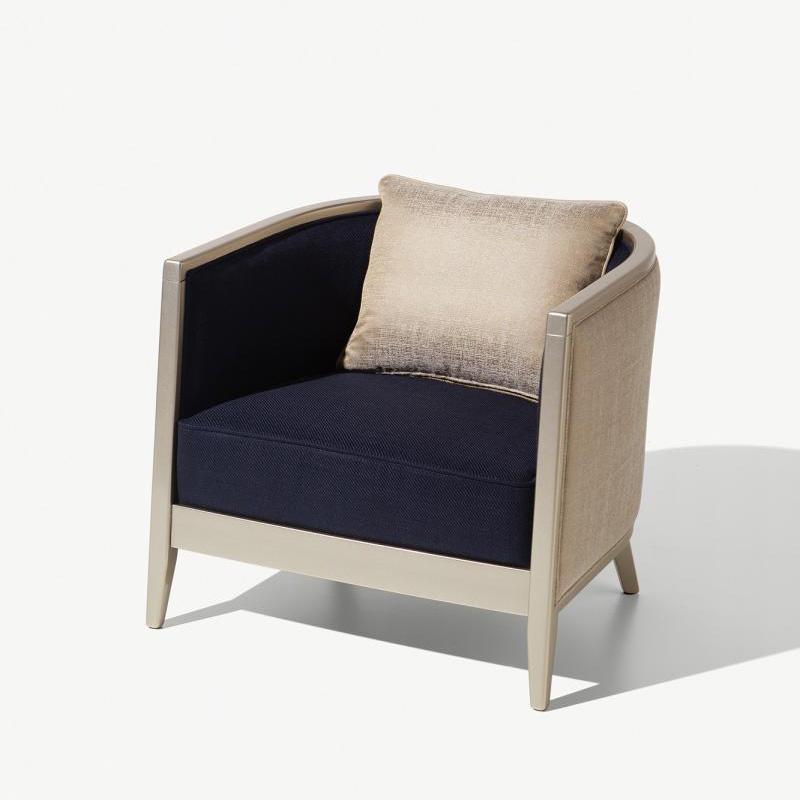 Sessel Saten in den Farben schwarz beige