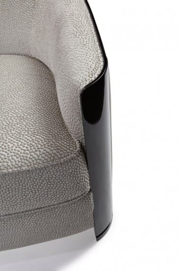 Sessel Lobby Iconic in grau schwarz Detail