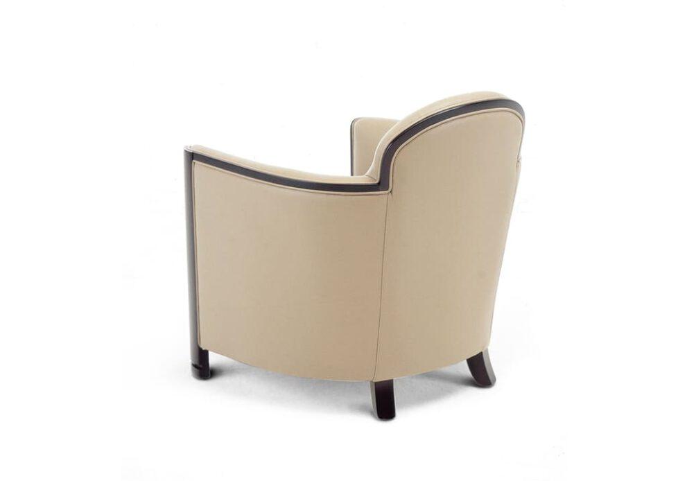 Sessel Lobby Iconic in beige braun Hinteransicht