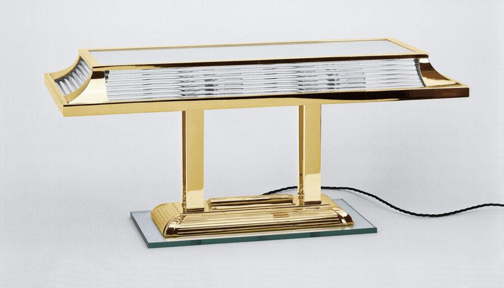 Tischleuchte 1398 breit in gold