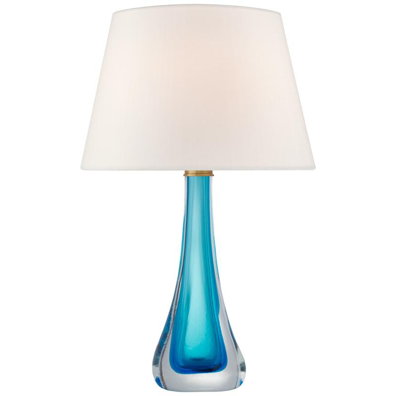 Tischlampe mit blauem Ständer