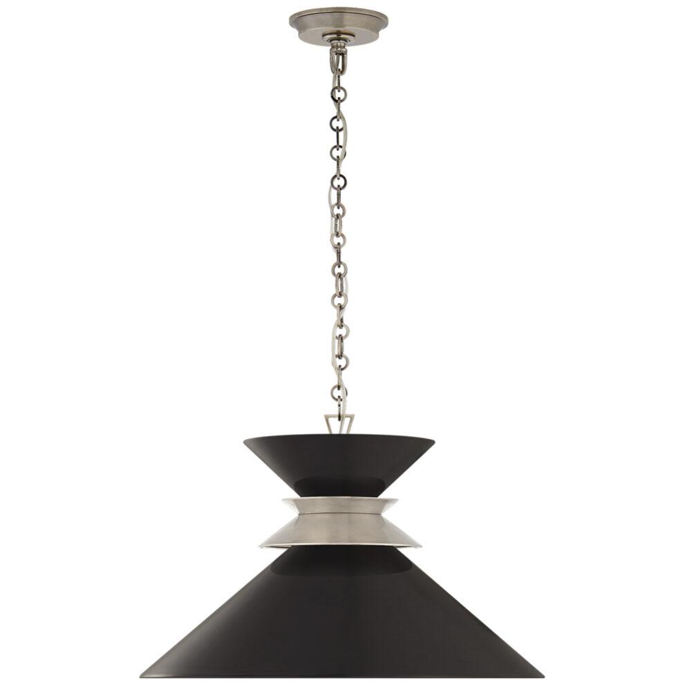 Pendelleuchte 5245 in schwarz und silber