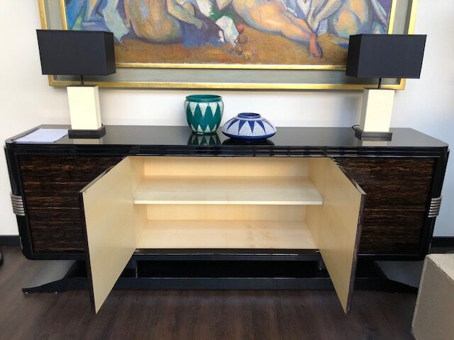 Art Deco Sideboard SB005, innen Ahorn furniert