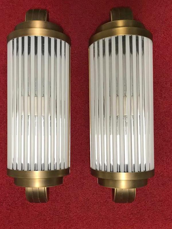 Wandleuchte WL18-messing bronziert, H.57 x B.19 x T.9,5 cm, 2x E14