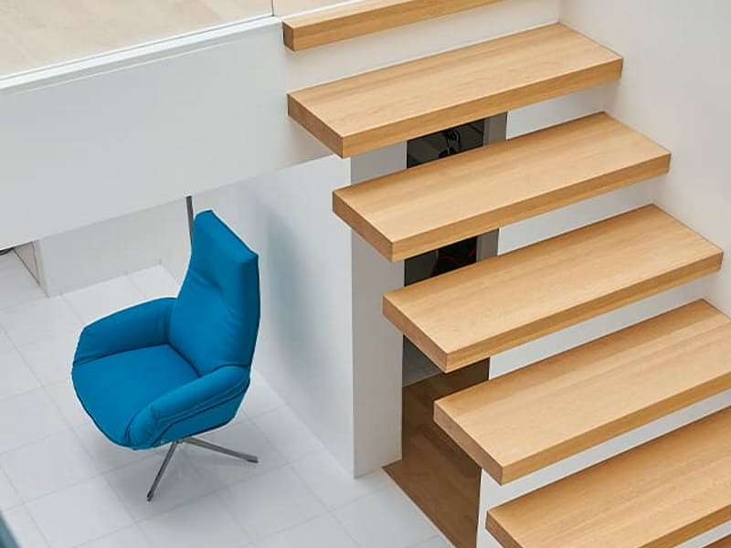 Bielefelder Werkstätten Sessel in korall-blau