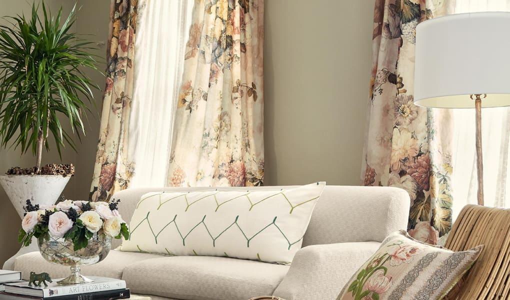 Wohnzimmer-Inspiration mit Stoffen von Zimmer und Rohde