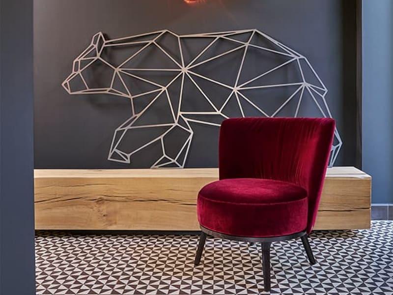 Bielefelder Werkstätten Sessel in rot