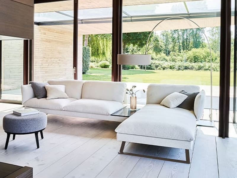 Bielefelder Werkstätten Sofa in hellem Stil
