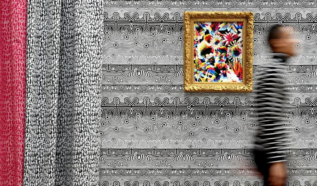 Vorhänge und Tapeten in kunstvollem Muster von Lelievre Paris