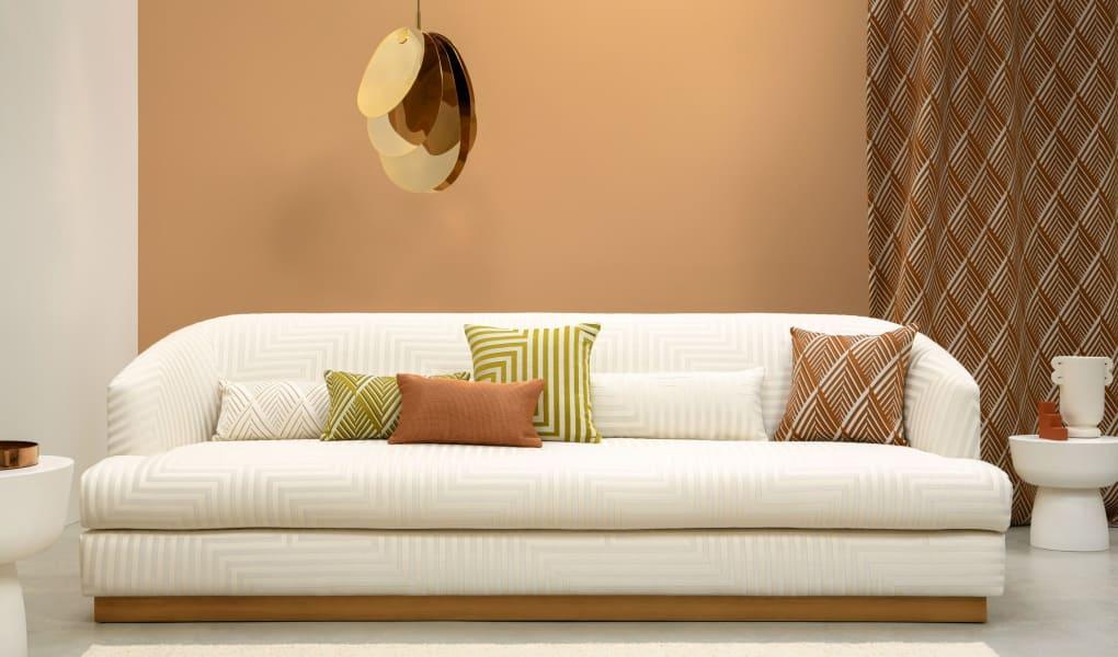 Wohnzimmer-Inspiration mit Stoffen von Lelievre Paris